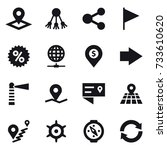 16 vector icon set   pointer ... | Shutterstock .eps vector #733610620