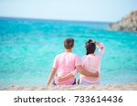 young happy couple have fun... | Shutterstock . vector #733614436