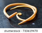 Small photo of Ascariasis is a disease caused by the parasitic roundworm Ascaris lumbricoides for education in laboratories.