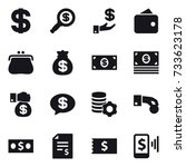 16 vector icon set   dollar ... | Shutterstock .eps vector #733623178