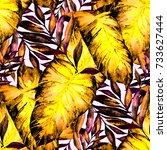 watercolor seamless pattern... | Shutterstock . vector #733627444