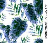 watercolor seamless pattern... | Shutterstock . vector #733627579