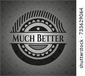 much better black badge | Shutterstock .eps vector #733629064