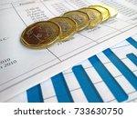 financial report  | Shutterstock . vector #733630750