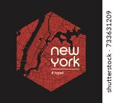 new york hyped t shirt and...   Shutterstock .eps vector #733631209