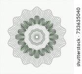 green passport money rossete | Shutterstock .eps vector #733635040