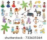 Nativity Cartoon Characters Se...