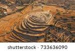 aerial bird's eye photo of... | Shutterstock . vector #733636090