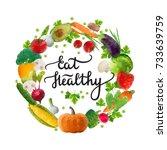 vector illustration  eat... | Shutterstock .eps vector #733639759