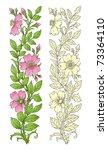 flower design elements vector | Shutterstock .eps vector #73364110