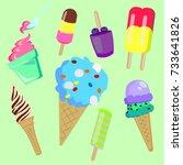 ice cream | Shutterstock .eps vector #733641826