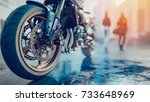 motorcycle wheels there is a... | Shutterstock . vector #733648969