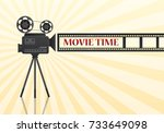 movie cinema poster design.... | Shutterstock .eps vector #733649098
