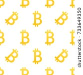 bitcoin vector is an isolated... | Shutterstock .eps vector #733649350
