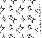 seamless pattern with arrows | Shutterstock .eps vector #733652710