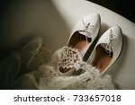 wedding shoes   white flats...