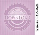 download retro style pink emblem