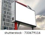 blank billboard in the building ... | Shutterstock . vector #733679116