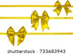 set oh three satin lemon yellow ... | Shutterstock . vector #733683943
