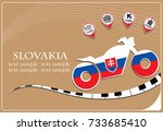 motorcycle logo made from the...   Shutterstock .eps vector #733685410