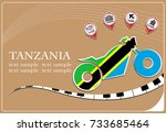 motorcycle logo made from the... | Shutterstock .eps vector #733685464