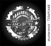between love and hate on grey... | Shutterstock .eps vector #733691668