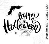 happy halloween template for... | Shutterstock .eps vector #733696120
