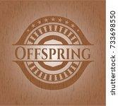offspring wood emblem. retro | Shutterstock .eps vector #733698550
