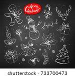 vector vintage illustrations... | Shutterstock .eps vector #733700473