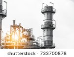 close up industrial zone. plant ... | Shutterstock . vector #733700878