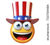 emoji with american hat  uncle... | Shutterstock . vector #733704484