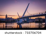 Small photo of Peace bridge Derry Londonderry Northern Ireland City of Culture