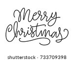 merry christmas lettering with... | Shutterstock .eps vector #733709398