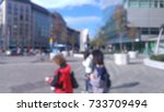blurred photo of tourists... | Shutterstock . vector #733709494