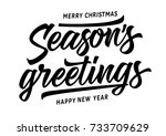 merry christmas seasons... | Shutterstock .eps vector #733709629