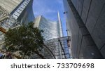 unicredit tower  square gae... | Shutterstock . vector #733709698