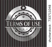terms of use silvery emblem or...