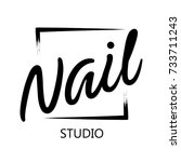 fashion nails logo  symbol.... | Shutterstock .eps vector #733711243