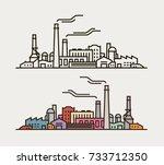 industry concept. industrial... | Shutterstock .eps vector #733712350