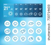 weather icons and widgets for... | Shutterstock .eps vector #733714603