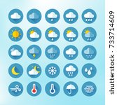 weather icons for print  web or ... | Shutterstock .eps vector #733714609