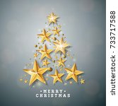 vector christmas and new year... | Shutterstock .eps vector #733717588