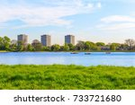 stoke newington west reservoir... | Shutterstock . vector #733721680