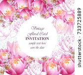 invitation or greeting card... | Shutterstock .eps vector #733725889