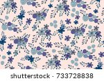 seamless pattern with cute... | Shutterstock . vector #733728838