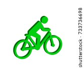 cyclist symbol. flat isometric...
