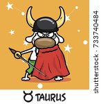 horoscope zodiac sign dog taurus | Shutterstock .eps vector #733740484