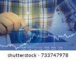 business man on digital stock...   Shutterstock . vector #733747978