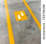 walkway lane in parking... | Shutterstock . vector #733748188
