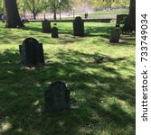 Small photo of Boston Common's burial ground, scary gravestones, dead historical figures from American Revolution, historic cemetery, famous Freedom Trail in Boston - Boston, MA, USA
